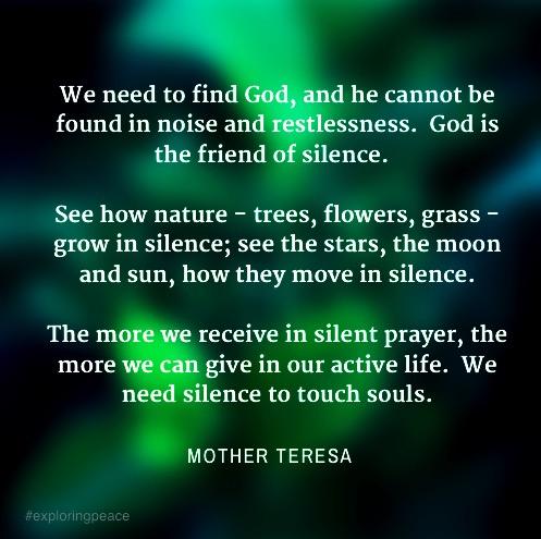 Silence mother teresa