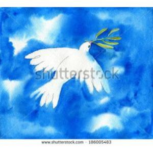 8162-white-dove-with-green-branch-flying-in-the-sky-watercolor-illustration-186005483