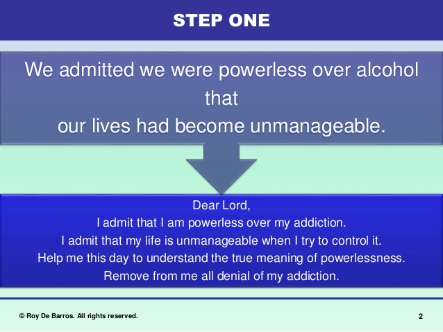 Esf 12 Steps In 1 Hour Sessions Step 1 Format Emotional Sobriety