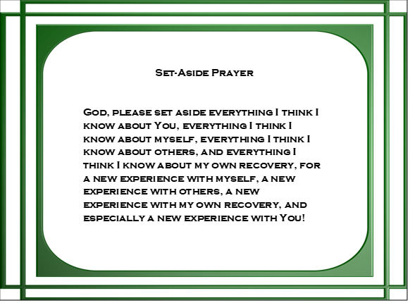 Set Aside Prayer variation green border