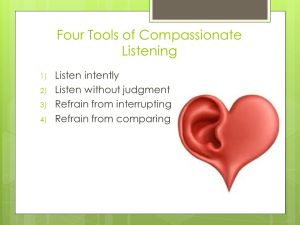 tools for compassionate listening