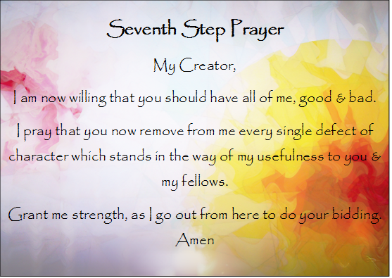 7th Step prayer & picture