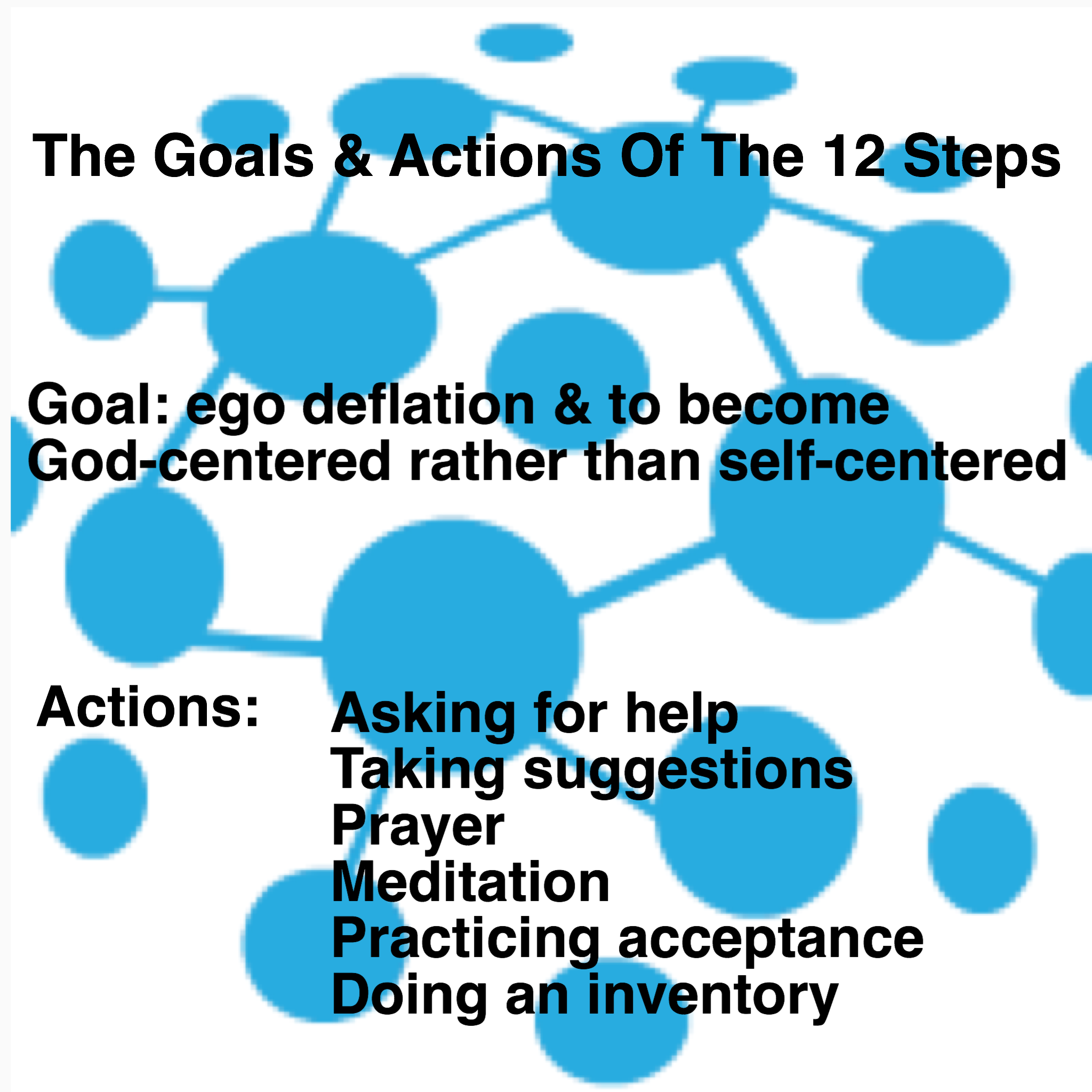 The goals & actions of the 12 Steps