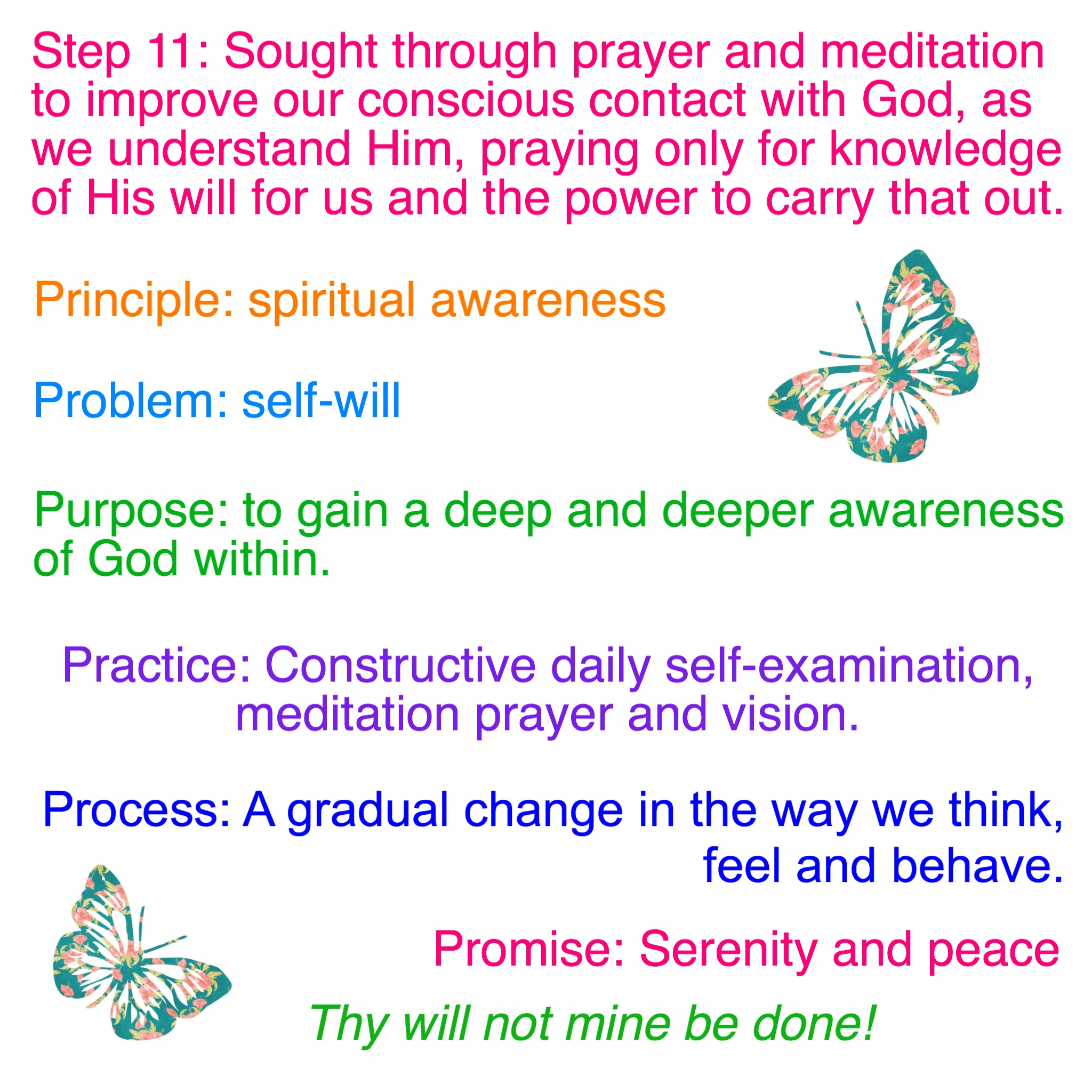 Step 11 Tradition 11 Worksheets Emotional Sobriety And Food