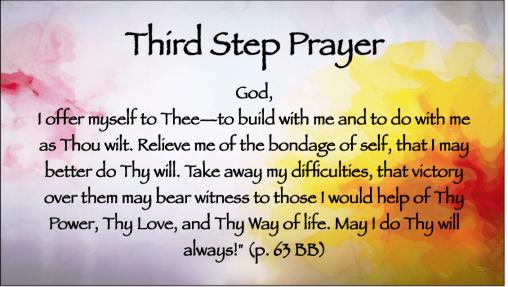 Third Step Prayer